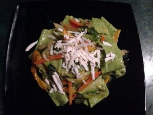 Pappardelle verdure cacio